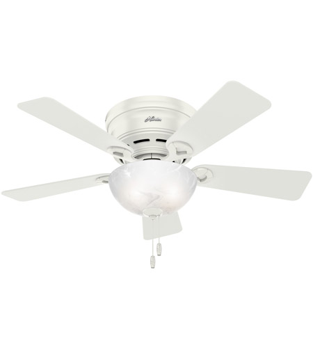 Hunter Fan 52138 Haskell 42 Inch Fresh White With Fresh White Light