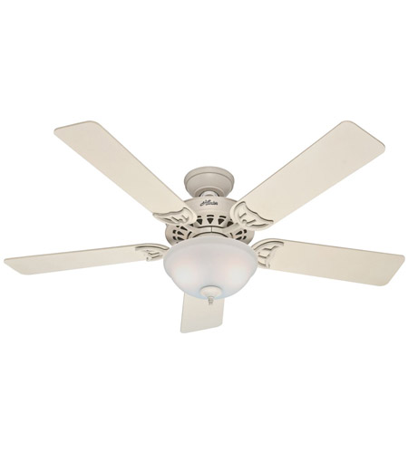 Hunter Fan 53173 The Sonora 52 inch French Vanilla with French Vanilla/Bleached Oak Blades Indoor Ceiling Fan  photo
