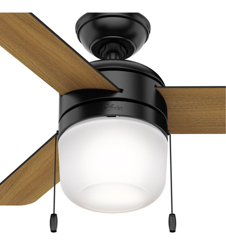 Hunter Fan 59410 Acumen 42 inch Matte Black with Matte Black/American Walnut Blades Ceiling Fan alternative photo thumbnail