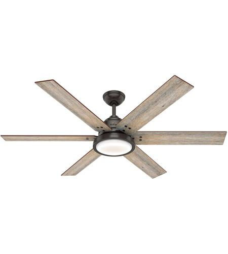 Hunter Fan 59461 Warrant 60 Inch Le Bronze With Barnwood Drifted Oak Blades Ceiling
