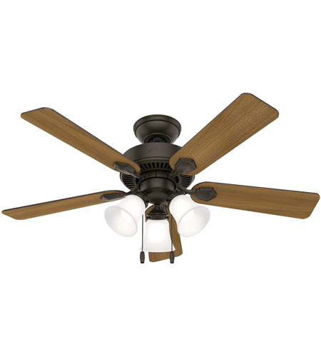 Hunter Fan 50881 Swanson 44 inch New Bronze with American Walnut/Greyed Walnut Blades Ceiling Fan photo