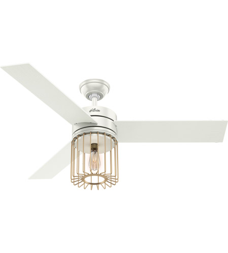 Hunter Fan 59238 Ronan 52 inch Fresh White with Aged Oak/White Grain Blades Ceiling Fan photo