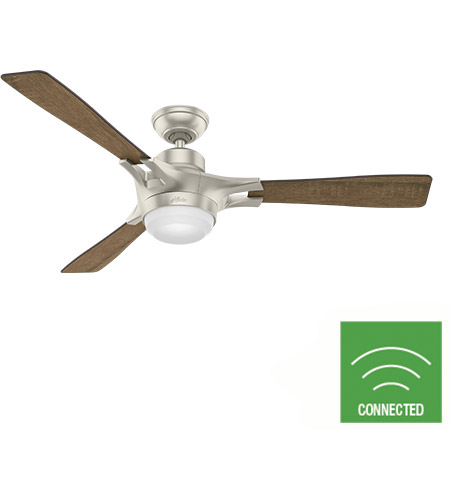 Hunter Fan 59378 Signal 54 inch Matte Nickel with Reclaimed Walnut/Burnt Oak Grain Blades Ceiling Fan photo