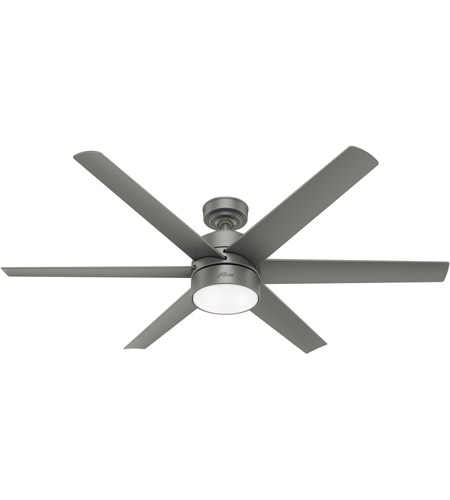 Hunter Fan 59625 Solaria 60 inch Matte Silver Outdoor Ceiling Fan photo