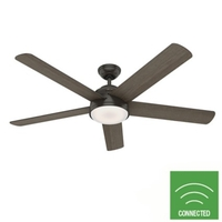 Hunter Fan 59485 Romulus 60 inch Noble Bronze with American Walnut/Greyed Walnut Blades Ceiling Fan photo thumbnail