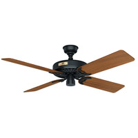Hunter Fan 23863 Original 52 inch Black with Teak Blades Outdoor Ceiling Fan
