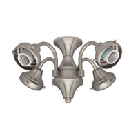 Hunter Fans Four Light Fitter 4 Light Fan Light Kit in Brushed Nickel (no glass) 28126