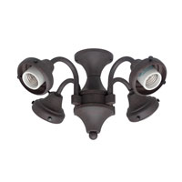 Hunter Fans Four Light Fitter 4 Light Fan Light Kit in Weathered Bronze (no glass) 28127 photo thumbnail