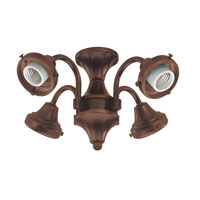 Hunter Fans Four Light Fitter 4 Light Fan Light Kit in Cocoa (no glass) 28128 photo thumbnail