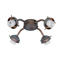 Hunter Fans Four Light Straight Arm Fitter 4 Light Fan Light Kit in Weathered Brick (no glass) 28136