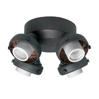 Hunter Fans Four Light Fitter With Integrated Switch Housing 4 Light Fan Light Kit in Weathered Bronze (no glass) 28648 photo thumbnail