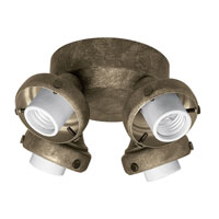 Hunter Fans Four Light Fitter With Integrated Switch Housing 4 Light Fan Light Kit in Provencal Gold (no glass) 28649