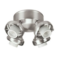 Hunter Fans Four Light Fitter With Integrated Switch Housing 4 Light Fan Light Kit in Brushed Nickel (no glass) 28653 photo thumbnail