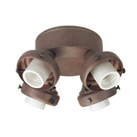 Hunter Fans Four Light Fitter With Integrated Switch Housing 4 Light Fan Light Kit in Weathered Brick (no glass) 28655 photo thumbnail