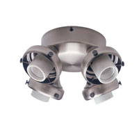 Hunter Fans Four Light Fitter With Integrated Switch Housing 4 Light Fan Light Kit in Antique Pewter (no glass) 28656