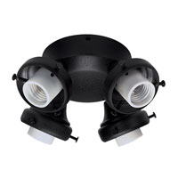 Hunter Fans Four Light Fitter With Integrated Switch Housing 4 Light Fan Light Kit in Black (no glass) 28660 photo thumbnail