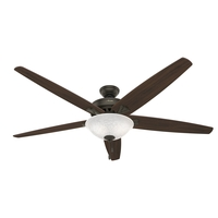 Hunter Fan 50472 Stockbridge 70 inch New Bronze with Medium Oak Blades Ceiling Fan