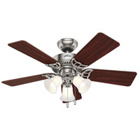 Hunter Fans Southern Breeze 3 Light Indoor Ceiling Fan in Brushed Nickel 51011