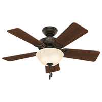 Hunter Fan 51014 Kensington 42 inch New Bronze with Dark Cherry/Medium Oak Blades Ceiling Fan