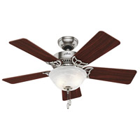 The Kensington 42 inch Brushed Nickel with Cherry/Maple Blades Indoor Ceiling Fan