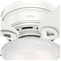 Hunter Fan 51022 Conroy 42 inch Snow White Ceiling Fan, Low Profile alternative photo thumbnail