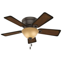 Hunter Fan 51023 Conroy 42 inch Onyx Bengal with Burnished Mahogany Blades Ceiling Fan Low Profile