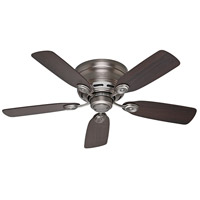 Low Profile (IV) 42 inch Antique Pewter with Dark Walnut/Chestnut Blades Indoor Ceiling Fan