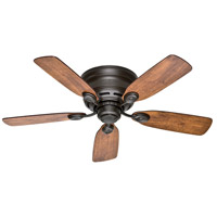 Low Profile (IV) 42 inch New Bronze with Weathered Oak/Wine Country Blades Indoor Ceiling Fan