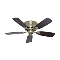 Hunter Fans Low Profile (IV) Indoor Ceiling Fan in Antique Brass 51062