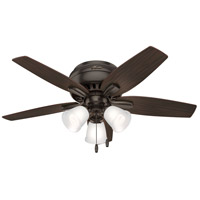 Hunter Fan 51078 Newsome 42 inch Premier Bronze with Roasted Walnut/Yellow Walnut Blades Ceiling Fan Low Profile