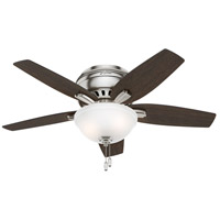 Newsome 42 inch Brushed Nickel with Medium Walnut/Dark Walnut Blades Ceiling Fan, Low Profile