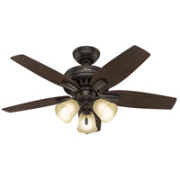 Newsome 42 inch Premier Bronze with Roasted Walnut/Yellow Walnut Blades Indoor Ceiling Fan