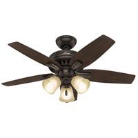 Hunter Fan 51084 Newsome 42 inch Premier Bronze with Roasted Walnut/Yellow Walnut Blades Ceiling Fan