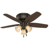 Builder Low Profile 42 inch New Bronze with Harvest Mahogany/Brazilian Cherry Blades Indoor Ceiling Fan