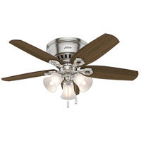 Builder Low Profile 42 inch Brushed Nickel with Brazilian Cherry/Harvest Mahogany Blades Indoor Ceiling Fan
