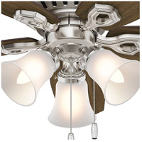 13f64d641b5 Hunter Fan 51092 Builder 42 inch Brushed Nickel with Brazilian  Cherry Harvest Mahogany Blades Ceiling