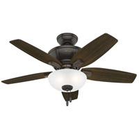 Hunter Fan 51101 Kenbridge 42 inch Noble Bronze with Barnwood/Dark Walnut Blades Ceiling Fan