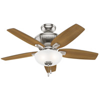 Hunter Fan 51102 Kenbridge 42 inch Brushed Nickel with American Walnut/Natural Wood Blades Ceiling Fan