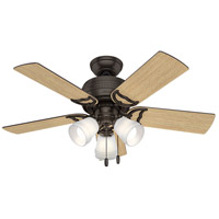 Hunter Fan 51105 Prim 42 inch Premier Bronze with Drifted Oak/Dark Walnut Blades Ceiling Fan