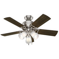 Hunter Fan 51106 Prim 42 inch Brushed Nickel with Dark Walnut/Drifted Oak Blades Ceiling Fan