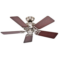 Hudson 42 inch Brushed Nickel with Cherry/Maple Blades Indoor Ceiling Fan
