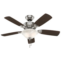 Caraway 44 inch Brushed Nickel with Burnt Walnut/Roasted Walnut Blades Indoor Ceiling Fan