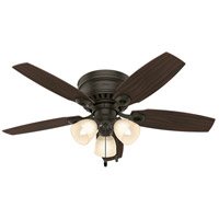 Hunter Fans Hatherton 3 Light Indoor Ceiling Fan in New Bronze 52086