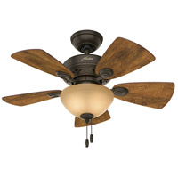 Watson 34 inch New Bronze with Cabin Home/Walnut Blades Indoor Ceiling Fan
