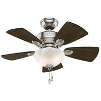 Watson 34 inch Brushed Nickel with Dark Walnut/Cherry Blades Indoor Ceiling Fan