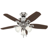 Builder 42 inch Brushed Nickel with Brazilian Cherry/Harvest Mahogany Blades Indoor Ceiling Fan