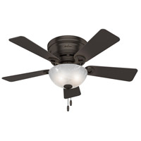 Hunter Fan 52137 Haskell 42 inch Premier Bronze with Dark Cherry/Rustic Lodge Blades Ceiling Fan Low Profile