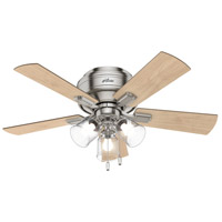 Hunter Fan 52154 Crestfield 42 inch Brushed Nickel with Natural Wood/Bleached Grey Pine Blades Ceiling Fan Low Profile