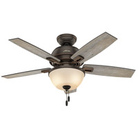 Donegan 44 inch Onyx Bengal with Dark Walnut/Barnwood Blades Indoor Ceiling Fan
