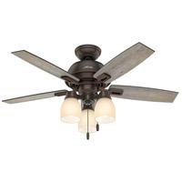 Hunter Fan 52228 Donegan 44 inch Onyx Bengal with Barnwood/Dark Walnut Blades Ceiling Fan